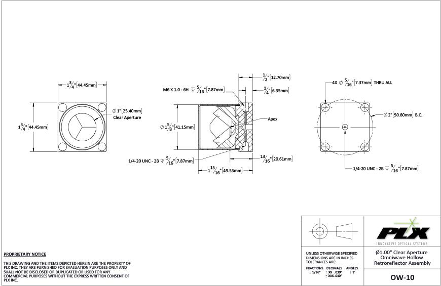 Ow 10 10 Clear Aperture Diagram Plx Inc
