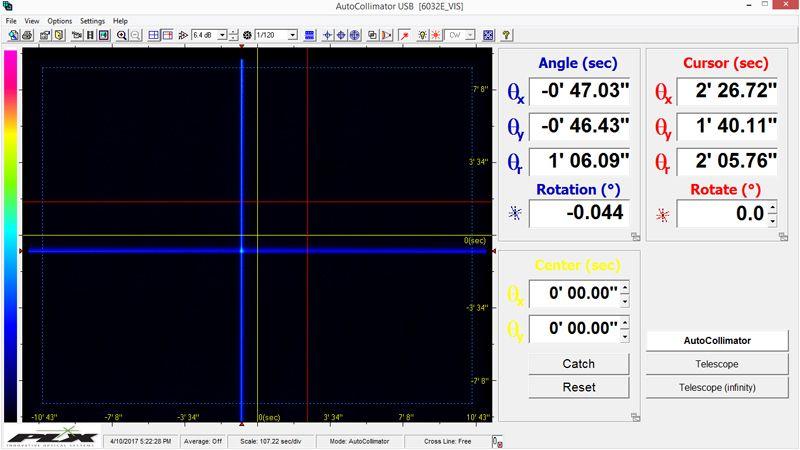 Autocollimator Screen